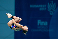 Picture by Rogan Thomson/SWpix.com - 18/07/2017 - Diving - Fina World Championships 2017 -  Duna Arena, Budapest, Hungary - Robyn Birch of Great Britain competes in the Women's 10m Platform Semi Final.
