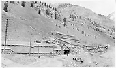 The Liberty Bell Gold Mining Co. Structures near Telluride.  The road and the RGS track to Pandora are shown.<br /> RGS  Telluride, CO  1908-1910