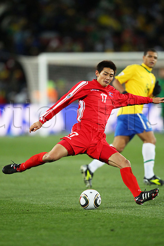 Ahn Young Hak (PRK). .FIFA World Cup Group G, Brazil v North Korea, June 15th, 2010. .Brazil 2-1 North Korea. .Ellis Park Stadium, Johannesburg, South Africa.