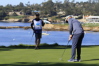 Paul Casey (ENG) putts on the 5th green during Sunday's Final Round of the 2018 AT&amp;T Pebble Beach Pro-Am, held on Pebble Beach Golf Course, Monterey,  California, USA. 11th February 2018.<br /> Picture: Eoin Clarke | Golffile<br /> <br /> <br /> All photos usage must carry mandatory copyright credit (&copy; Golffile | Eoin Clarke)