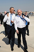 United States President Barack Obama walks across the tarmac with Prime Minister Benjamin Netanyahu of Israel at Ben Gurion International Airport in Tel Aviv, Israel, March 20, 2013..Mandatory Credit: Pete Souza - White House via CNP