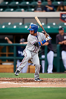 St. Lucie Mets right fielder Arnaldo Berrios at bat during the first game of a doubleheader against the Lakeland Flying Tigers on June 10, 2017 at Joker Marchant Stadium in Lakeland, Florida.  Lakeland defeated St. Lucie 6-5 in fourteen innings.  (Mike Janes/Four Seam Images)