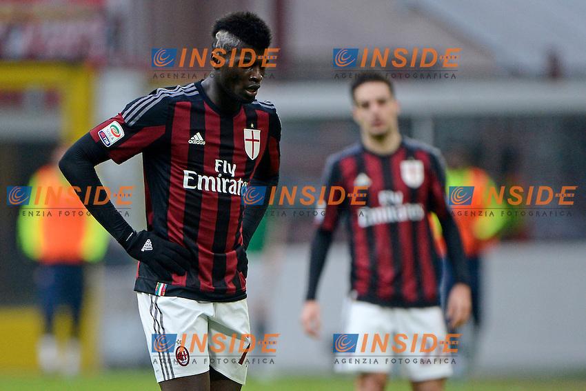 Delusione M'Baye Niang Milan<br /> Milano 6-01-2016 Stadio Giuseppe Meazza - Football Calcio Serie A Milan - Bologna. Foto Giuseppe Celeste / Insidefoto