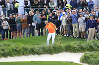 Rickie Fowler (USA) on the 18th fairway during the final round of the Waste Management Phoenix Open, TPC Scottsdale, Scottsdale, Arisona, USA. 03/02/2019.<br /> Picture Fran Caffrey / Golffile.ie<br /> <br /> All photo usage must carry mandatory copyright credit (&copy; Golffile | Fran Caffrey)