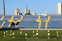 A general view of the Brazil team during training ahead of tomorrow's World Cup quarter final vs Colombia