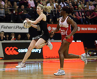 25.10.2012 Silver Ferns Camilla Lees in action during the Silver Ferns v England netball test match as part of the Quad Series played at the TSB Arena Wellington. Mandatory Photo Credit ©Michael Bradley.