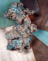 NATIVE COPPER & SHEETS<br /> Copper melts at about 1083° C (about 1981° F), boils at about 2567° C (about 4753° F), and has a specific gravity of 8.9. The atomic weight of copper is 63.546.  Native copper occurs in the vicinity of Lake Superior in northern Michigan.