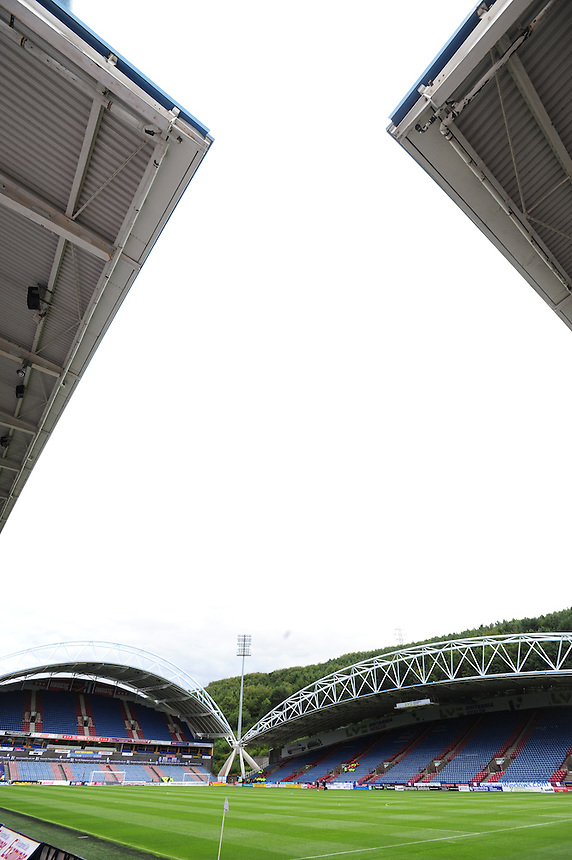 A general view of The John Smith's Stadium, home of Huddersfield Town<br /> <br /> Photographer Chris Vaughan/CameraSport<br /> <br /> Football - The Football League Sky Bet Championship - Huddersfield Town v Blackburn Rovers - Saturday 15th August 2015 - The John Smith's Stadium - Huddersfield<br /> <br /> &copy; CameraSport - 43 Linden Ave. Countesthorpe. Leicester. England. LE8 5PG - Tel: +44 (0) 116 277 4147 - admin@camerasport.com - www.camerasport.com