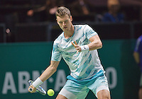 Februari 12, 2015, Netherlands, Rotterdam, Ahoy, ABN AMRO World Tennis Tournament, Tomas Berdych (CZE)  - Andreas Seppi (ITA)<br /> Photo: Tennisimages/Henk Koster