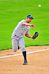 18 July 2010: Staten Island Yankees third baseman Kevin Mahoney in action against the Vermont Lake Monsters at Centennial Field in Burlington, Vermont. The Lake Monsters fell to the Yankees 9-5 in NY Penn League action. Mandatory Credit: Ed Wolfstein Photo