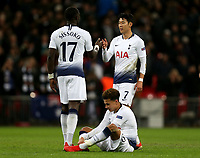 Spurs players celebrate the victory after Tottenham Hotspur vs Inter Milan, UEFA Champions League Football at Wembley Stadium on 28th November 2018