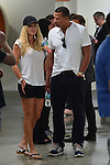 MIAMI BEACH, FL - DECEMBER 04: Alex Rodriguez (R) and girlfriend Torrie Wilson (L) sighted at Art Basel Miami Beach 2013 at the Miami Beach Convention Center on December 4, 2013 in Miami Beach, Florida. (Photo by Johnny Louis/jlnphotography.com)