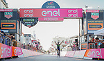 Gorka Izaguirre (ESP) Movistar Team wins Stage 8 of the 100th edition of the Giro d'Italia 2017, running 189km from Molfetta to Peschici, Italy. 1th May 2017.<br /> Picture: LaPresse/Simone Spada | Cyclefile<br /> <br /> <br /> All photos usage must carry mandatory copyright credit (&copy; Cyclefile | LaPresse/Simone Spada)