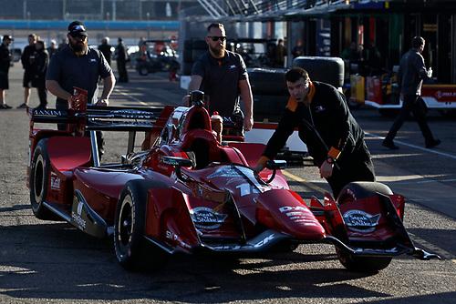 26-27 February, 2016, Avondale, Arizona USA<br /> 15 Graham Rahal's car is rolled through the paddock<br /> ©2016, Phillip Abbott<br /> LAT Photo USA