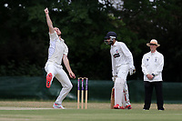 Paul Walter in bowling action for Billericay during Ilford CC vs Billericay CC, Shepherd Neame Essex League Cricket at Valentines Park on 25th May 2019