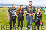 David Foley, Bernie Moriarty, Seamus Flaherty and Catherine Stack from Tralee at the South West MCC 27th Missing Link Rally and BBQ in the Tankard Bar on Friday night.