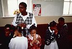 Sunday school children Bible study. Church of God of Prophecy West London UK. <br />