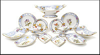 BNPS.co.uk (01202) 558833<br /> Picture: Bonhams<br /> <br /> A fine Spode dessert service, est &pound;3,500<br /> <br /> It is the ultimate garden sale -- The aristocrat Cunliffe-Copeland family are auctioning off millions of pounds of antiques in a unique sale of the entire contents of their stately home Trelissick House near Truro in Cornwall. For generations the family have filled the magnificent The 18th century manor with treasures acquired from travels around the globe.<br /> <br /> 58 years ago the house was left to the National Trust on the condition members of the family could carry on living in the property. But the current incumbent, William Copeland and wife Jennifer, have decided to buy a normal-sized family home and are unable to take the hundreds of heirlooms with them. So they are holding a two-day sale of ancient ornaments, paintings, furniture, jewellery, silverware, books, rugs and wine in the grounds of Trelissick House, near Truro, later this month, and hope to raise &pound;3million