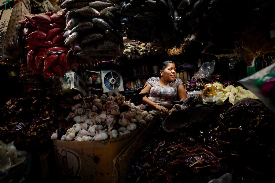 Coyuca de Benitez, Mexico, February 17, 2012 – The town market in the village of Coyuca de Benitez.
