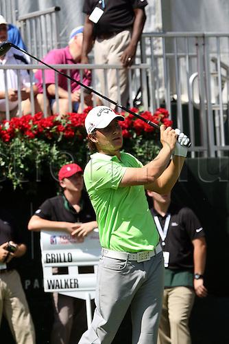 22.09.2016. Atlanta, Georgia, USA.  Emiliano Grillo during the opening round of the 2016 PGA Tour Championship at East Lake Golf Club in Atlanta, Georgia.