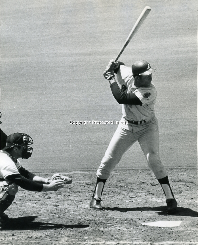 "Orlando Cepeda, nicknamed ""The Baby Bull"" Atlanta Braves 1970..(photo Ron Riesterer/photoshelter)"
