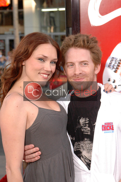 """Clare Grant and Seth Green<br /> at the """"Scott Pilgrim VS. The World"""" Premiere, Chinese Theater, Hollywood, CA. 07-27-10<br /> David Edwards/DailyCeleb.com 818-249-4998"""