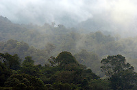 The cloud shrouded jungle of Costa Rica.