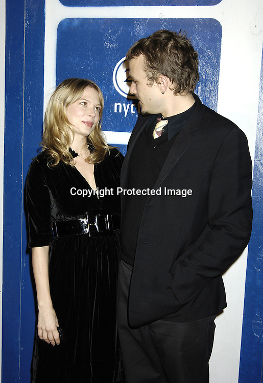 Michelle Williams and Heath Ledger..at The IFP's 15th Annual Gotham Awards on November 30, 2005 at Pier Sixty. ..photo by Robin Platzer, Twin Images