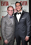 Jesse Tyler Ferguson & Cheyenne Jackson.attending the Broadway Opening Night Performance of 'EVITA' at the Marquis Theatre in New York City on 4/5/2012 © Walter McBride / WM Photography