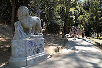 Rome  August  21 2008.The Pincio (the hill overlooking Piazza del Popolo) .The ascent to the Pincio