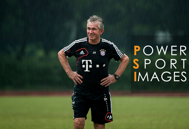 Head coach Jupp Heynckes of Bayern Munich during a training session ahead the friendly match against VfL Wolfsburg as part of the Audi Football Summit 2012 on July 26, 2012 at the Tianhe Sports Stadium in Guangzhou, China. Photo by Victor Fraile / The Power of Sport Images