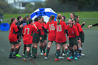 Action from the 2019 Grant Jarvis NZ Secondary Schools Girls' 1st XI football tournament semifinal between Havelock North High School and Karamu High School at Wakefield Park in Wellington, New Zealand on Thursday, 5 September 2018. Photo: Dave Lintott / lintottphoto.co.nz