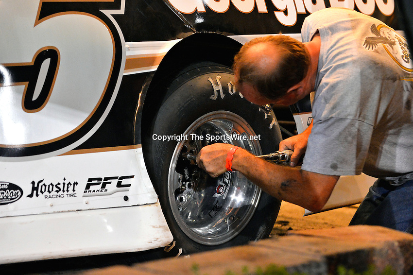Sep 27, 2013; 9:44:50 PM; Knoxville, IA., USA; 10th Annual Lucas Oil Late Model Knoxville Nationals presented by Caseys General Stores at the Knoxville Raceway.  Mandatory Credit: (thesportswire.net)