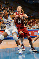 January 10, 2010.  Stanford's Kayla Pedersen in action against UCLA.  The Cardinal defeated the Bruins, 65-61.LOS ANGELES, CA - JANUARY 10:  Kayla Pedersen of the Stanford Cardinal during Stanford's 65-61 win against the UCLA Bruins on January 10, 2010 at Pauley Pavilion in Los Angeles, California.