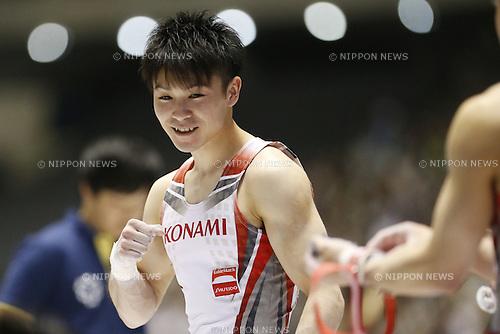 Kohei Uchimura, MAY 5, 2016 - Artistic Gymnastics : The 55th NHK Cup men's Individual All-Around, Rings at Yoyogi 1st Gymnasium, Tokyo, Japan. (Photo by Yusuke Nakanishi/AFLO SPORT)