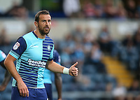 Thumb up from Paul Hayes of Wycombe Wanderers during the Sky Bet League 2 match between Wycombe Wanderers and Colchester United at Adams Park, High Wycombe, England on 27 August 2016. Photo by Andy Rowland.
