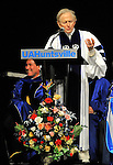 Bob Gathany / The Huntsville Times.  UAHuntsville commencement Friday evening at Spragins Hall.  Author Tom Wolfe.