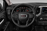Car pictures of steering wheel view of a 2019 GMC Sierra 1500 Base 2 Door Pick Up