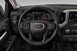 Car pictures of steering wheel view of a 2019 GMC Sierra 1500 Base 2 Door Pick Up