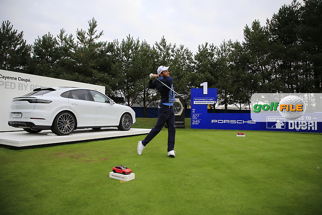 Max Kieffer (GER) during the Pro-Am at the  Porsche European Open, Green Eagles Golf Club, Luhdorf, Winsen, Germany. 04/09/2019.<br /> Picture Fran Caffrey / Golffile.ie<br /> <br /> All photo usage must carry mandatory copyright credit (© Golffile | Fran Caffrey)