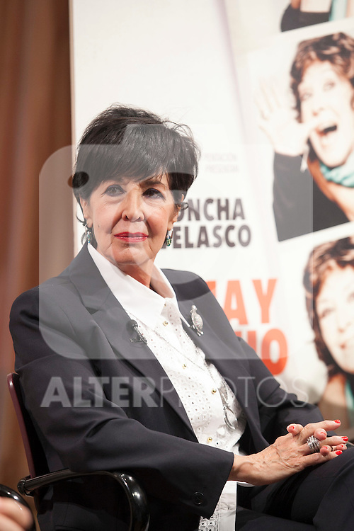Spanish actress Concha Velasco during the `Olivia y Eugenio´ theater play presentation in Madrid, Spain. October 21, 2014. (ALTERPHOTOS/Victor Blanco)