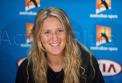 12.01.2014. Sydney, Australia. Australian Open Tennis Championships. World Tour, Grand Slam, Australian Open  Victoria Azarenka of Belarus attends a press conference