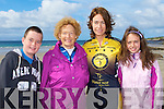 FAMILY SUPPORT: Jackie Ruttledge from the Tralee Triathlon Club with her supporters at the Kerryhead Triathlon in aid of Enable Ireland at Ballyheigue on Saturday l-r: Rory Ruttledge, Evelyn Kelly and Jackie and Kelly Ruttledge.