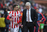Stoke City's Manager Mark Hughes cuts a dejected figure at the final whistle during the Barclays Premier League match between Stoke City and Swansea City played at Britannia Stadium, Stoke on April 2nd 2016