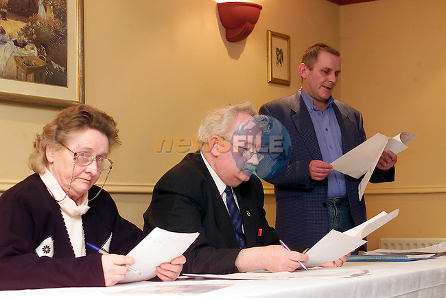 the top table at the Anti Bin harges agm..Picture Fran Caffrey Newsfile.