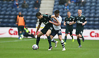 Newcastle United's Federico Fernandez shields the ball from Preston North End's Sean Maguire<br /> <br /> Photographer Stephen White/CameraSport<br /> <br /> Football Pre-Season Friendly - Preston North End v Newcastle United - Saturday July 27th 2019 - Deepdale Stadium - Preston<br /> <br /> World Copyright © 2019 CameraSport. All rights reserved. 43 Linden Ave. Countesthorpe. Leicester. England. LE8 5PG - Tel: +44 (0) 116 277 4147 - admin@camerasport.com - www.camerasport.com