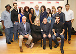 First Row: David Thompson, Susan Stroman, Hal Prince and Jason Robert Brown. Second Row: Chuck Cooper, Michael Xavier, Karen Ziemba, Janet Dacal, Bryonha Marie Parham, Barry Grove, Lynne Meadow, Kaley Ann Voorhees, Emily Skinner, Brandon Uranowitz and Tony Yazbeck attend the Meet & Greet for the Manhattan Theatre Club's Broadway Premiere of 'Prince of Broadway' at the MTC Studios on July 20, 2017 in New York City.
