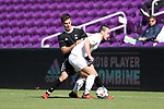 Orlando, Florida - Monday January 15, 2018: Danny Musovski and George Campbell. Match Day 2 of the 2018 adidas MLS Player Combine was held Orlando City Stadium.