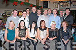 Kerry General Hospital, Theatre Staff who dined in Kirby's Brogue, Tralee last Friday night for their annual Christmas party, present were seated l-r: Evelyn Cronin, Elaine Lenihan, Andrea Horan, Joan Hickey, Honor Brosnan and Magali Vernet. Back l-r: Sean McGovern, Niall Enright, Matt Smith, Gearoid Lynch, Chris Mills, Robert O'Neill, Seanie McDonnell, James Moynihan with Pat and Francie Breen.