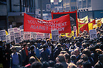 Ethnic Bengali asian local population march and demonstration against racism in the East End of London. UK. Bengali Youth Movement Against racism banner, summer 1978